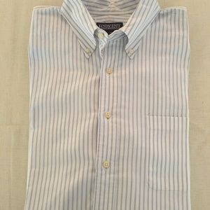 Lands' End Men's Button Down Casual Shirt, Tall